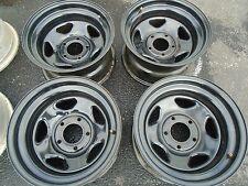 Offroad Steel Wheel Rims Set of 4  15x8 5x5 Bolt Pattern BLACK