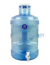 BPA Free 5 Gallon Water Bottle Faucet Dispenser Container Big Cap Jug Canteen