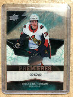 18-19 UD Ice Premieres RC Rookie #136 DRAKE BATHERSON /249
