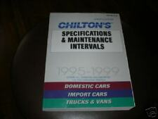 chiltons 95-99 specifications and maintenance intervals