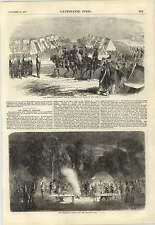 1857 líneas de caballería emperador Napoleón visitar Camp en Chalons