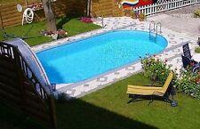 Pool Schwimmbecken oval 4,90 x 3,00 x 1,20 m Stahlwand 0,60mm + Skimmer