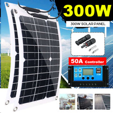 ✅ Portable Solar Panels Kit Home RVS 300 Watt 18V System Flexible Roof Camping