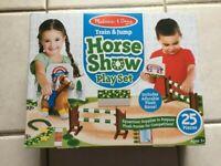 New Melissa And Doug Train & Jump Horse Show Play Set