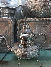 Moroccan Handmade Tea Pot  Stainless Steel  X Large