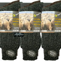 12 PAIRS MENS THERMAL SOCKS WALKING WINTER WARM THICK RICH WOOL HIKE CHUNKY BOOT