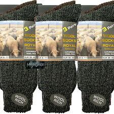 12 Pares Para Hombre Térmica calcetines de senderismo de invierno cálido Grueso ricos Lana caminata Grueso Boot