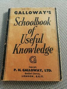 1935 Galloway's Cough Syrup Schoolbook of Useful Knowledge (Thurcroft Rotherham)