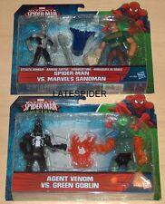 """Marvel Spider-Man vs Sandman Agent Venom Green Goblin Twin packs 6"""" Sinister 6"""