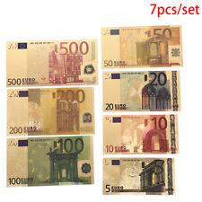 7x euro feuille d'or papier argent Arts artisanat collection non monétaire I