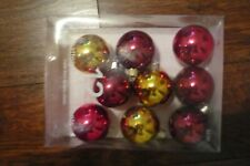 9 pc. red & gold shatterproof bulbs