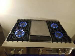 "Viking 36"" Rangetop, COOKTOP 4+ Griddle,  VGRT5364GSS"
