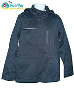 New NIKE Sportswear NSW Mens M65 Jacket Concealed Hood Cotton Black M