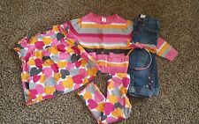 Girls Gymboree panda academy outfit 2t 5 piece jeans leggins cardigan hearts