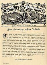 Zum Geburtstag unserer Kaiserin (21.Oktober 1901) Grußadresse