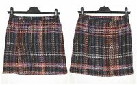 Womens Dolce & Gabbana Vintage Tweed Boucle Mini Skirt Check Wool IT40 / UK8