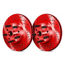 For Buick Commercial Chassis 91-96 Brake Rotors Drilled /& Slotted 1-Piece Front