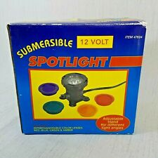 Submersible 12 Volt Spotlight Color Lenses Pond or Fountain Halloween Christmas