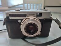 Minolta Minoltina-P 35mm Film Camera Rokkor 38mm F2.8 Lens As Is W/ Case