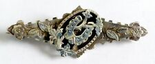 A VICTORIAN 1895 CHESTER HALLMARKED SILVER LUCKY HORSESHOE SWEETHEART  BROOCH