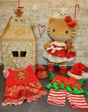 Build a Bear Christmas Bundle - Gingerbread Hello Kitty, Box, Sequin Dress, Elf