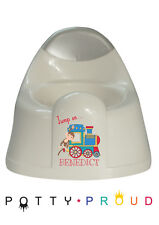 Personalised Monkey Train Design Training Potty Kids Bespoke Toddler Boy or Girl