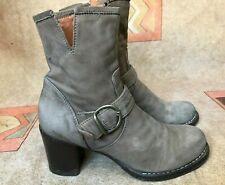 Fiorentini + Baker Ankle Gray Leather 38 US 8