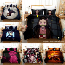 Demon Slayer Nezuko Bedding Set 3PCS Duvet Cover Quilt Cover Pllowcase