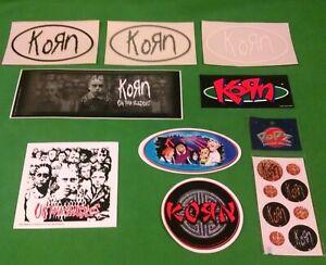 Rare Korn Jonathan Davis 16 piece Waterproof Vinyl Bumper Sticker/Decal/Popz Set