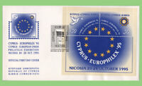 Cyprus 1995 European Cultural Month m/s on First Day Cover