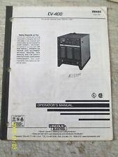 LINCOLN ELECTRIC CV-400 OPERATOR'S MANUAL WELDING  IM480