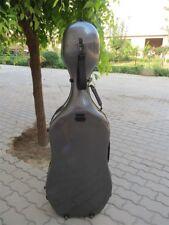 Great black composite carbon fiber cello case 4/4.hard cello case