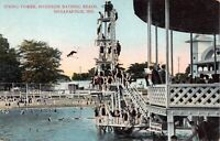 Postcard Diving Tower, Riverside Bathing Beach in Indianapolis, Indiana~124402