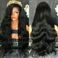 "24"" #1B 7A Brazilian Body Wave 180% Density Glueless Full Lace Wig"