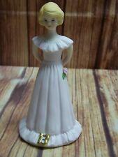 1981 Enesco Growing Up Birthday Girls Age 13 Porcelain Figurine