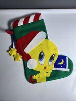 1997 Vintage Tweety Christmas Stocking International Silver Co ~ Felt