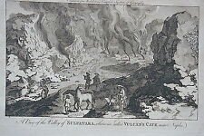 1778 VULCANS Naples Vesuvius & Solfatara Italy - 3 Scarce Prints
