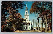 Kennebunkport Maine ME Congregational Church Vintage Postcard 1950s