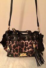 JUICY COUTURE Gold-Tone Black Leopard Daydreamer Handbag/Purse - Original Tags