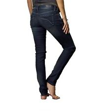 $89 Fox Racing Women's Snake Eyes Skinny Jeans Midnight Wash Size 3/26