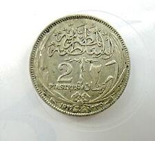 coin moneta  SILVER EGYPT 2 PIASTRES 1917