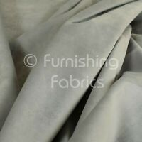 Sold By The 1 Metres Fabric Soft Quality Modern Lightweight Low Pile Velvet Plain Ivory Cream Curtain Upholstery Fabric