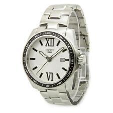 Relojes de pulsera de plata de acero inoxidable para hombre