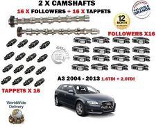 für Audi A3 1.6 2.0 TDI 2003- > 2x Nockenwelle Set + 16 x Stößel + 16 x Nocken