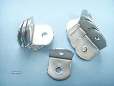 Pack of 20, STEEL ANGLED BRACKET in zinc finish, 19mm x 19mm x 19mm