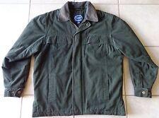 Aberdeen Authentic Sportswear Fleece Lined Winter Coat Men Medium Leather Collar