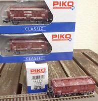 Piko 58351 H0 Set 3-teiliges Set Covered Gondola Tm5605 Dr Ep.4 with Kalkspuren