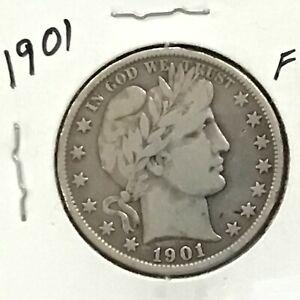1901 Barber Silver Half Dollar      E8640