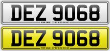 DEZ 9068 number plate private dateless personal registration Dessy Desmond Des D