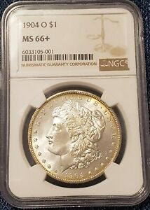 1904-O Morgan $1 Dollar, Final New Orleans Mint Issue, NGC MS66+!!  L@@K!! ⭐